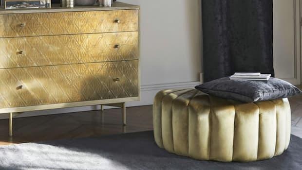 Pouf conchiglia oro - Foto by Maisons du Monde