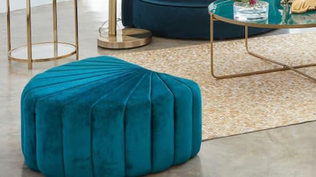 Pouf conchiglia blu - Foto by Maisons du Monde