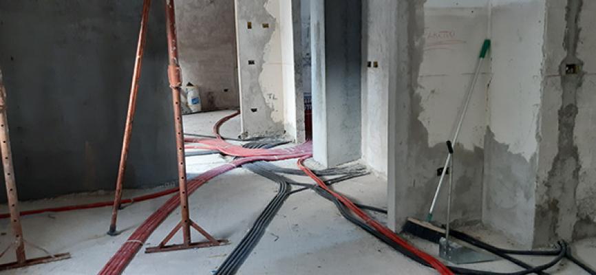 Impianto termico con circuito a collettore