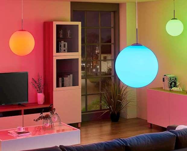 Lampada cambia colore, lampade.it, modello Rhona