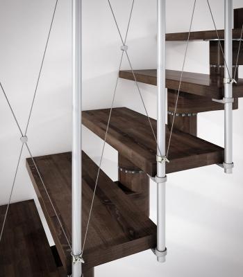 Scala interna in legno, Rintal, linea gamma