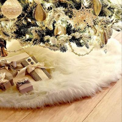 Tappeto da mettere sotto l'albero di Natale in pelo su Amazon