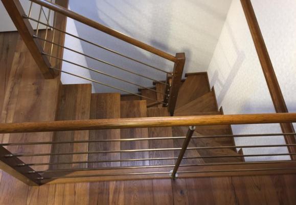 Rivestimento scala in legno di rovere By Brendolini