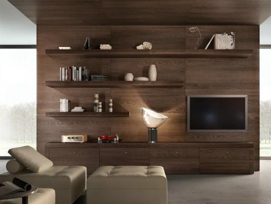 Le pareti in legno possono integrare più funzioni