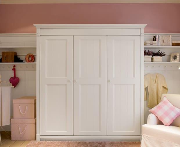 Camera da letto shabby per bambine - Minacciolo - Armadio English Mood