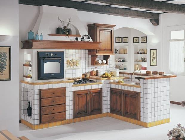 Cucina a muratura rustica, da ralceramiche.it