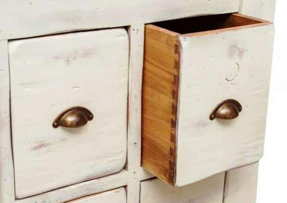 Banco lavoro legno finitura bianca - Biscottini