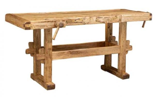 Banco da lavoro in legno - Biscottini