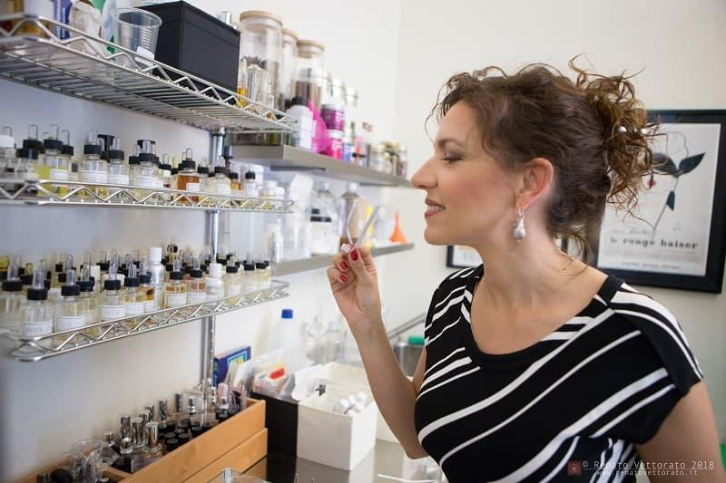 La fragrance designer Claudia Scattolini