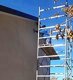 Applicazione pittura silossanica in facciata - Impresa Pulisud CB