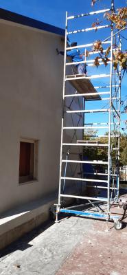 Applicazione pittura al quarzo facciata- Impresa Pulisud CB