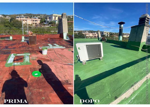 Impermeabilizzazione Bioscud by KERAKOLL per tetto piano