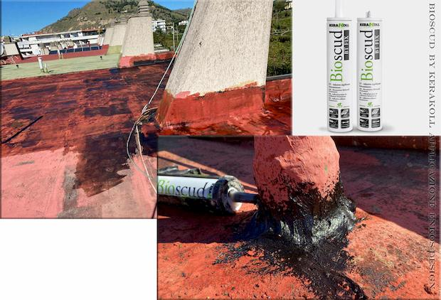 Impermeabilizzazione tetto Bioscud bt fix kerakoll