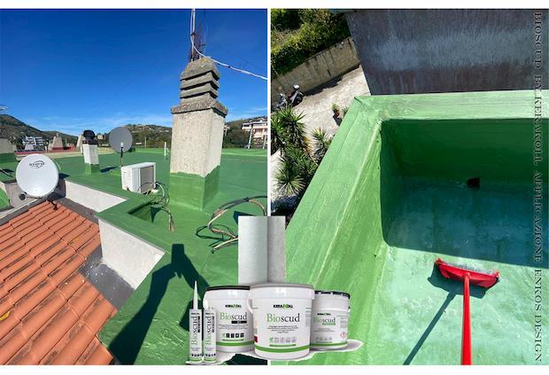 Kit-impermeabilizzazione tetto Bioscud by kerakoll