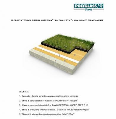 Guaine impermeabilizzanti x tetto green Polyglass