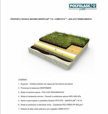 Guaine impermeabilizzanti x tetto verde Polyglass Mapei