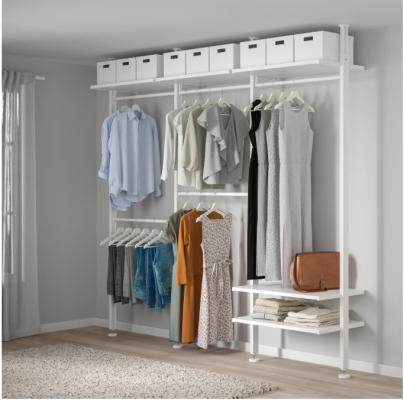 Sistema per cabina armadio ELVARLI di IKEA