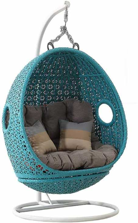 Egg hanging chair model with structure - Amazon