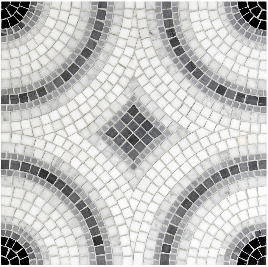 Nel bagno grigio Friul Mosaic, collezione Nucleo