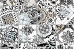 Stile liberty per il bagno grigio con Classic di Tile & Style