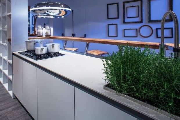 Foto - Progetto cucina e soggiorno 40 mq