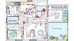 Progetto casa 115 mq: una distribuzione funzionale degli spazi