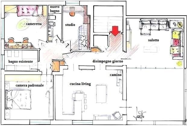 Casa 115 mq pianta di progetto