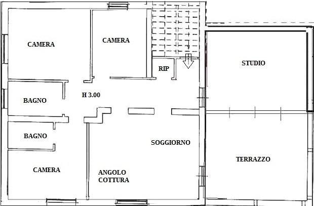 Progetto casa 115 mq pianta prima
