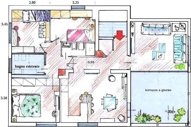 Progetto appartamento 115 mq