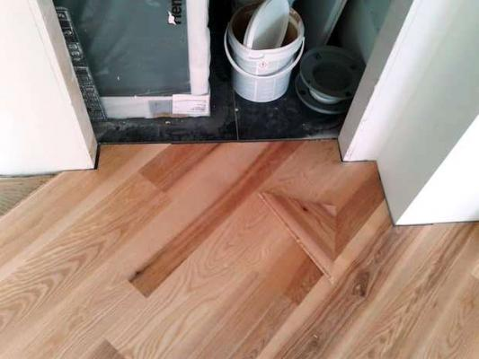 Progetto casa: acero posa diagonale Pegaso Parquet
