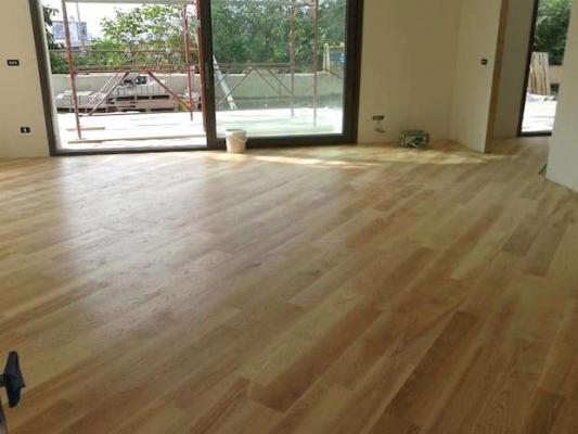 Progetto casa: posa diagonale acero Pegaso Parquet