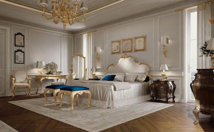 Pareti camera da letto, Chelini, Boiserie legno