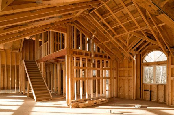 Casa il legno con struttura a ballon frame, by L.A. Cost.
