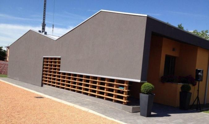 Edificio moderno costruito con il sistema platform frame, by Sistem Costruzioni