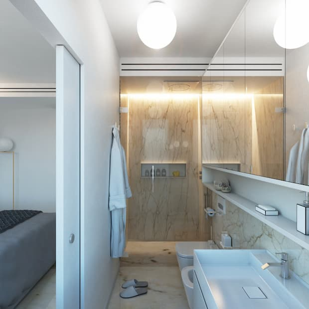 Bagno camera da letto matrimoniale