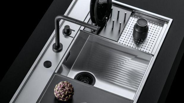 Lavello acciaio inox in cucina
