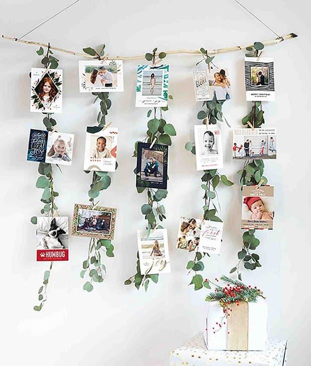 Espositore biglietti di auguri con eucalipto, da minted.com