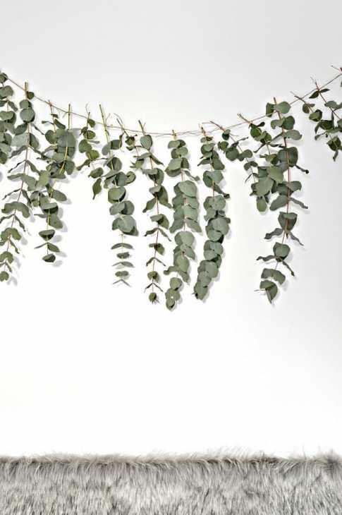 Festone eucalipto boho-chic, da yourdiyfamily.com