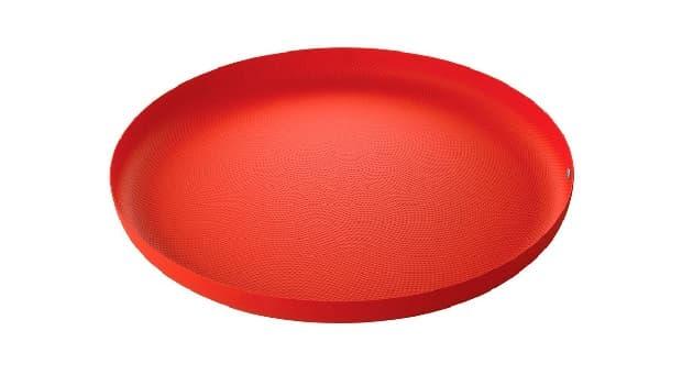 Vassoi pasticcini Granulato rosso di Alessi