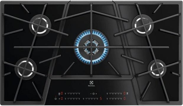 Electrolux, piano cottura nero a gas Touch Sure