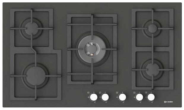 Smalvic, piano cottura smaltato nero Quadro Lavagna