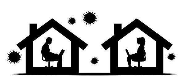 Condizione di confinamento causa pandemia