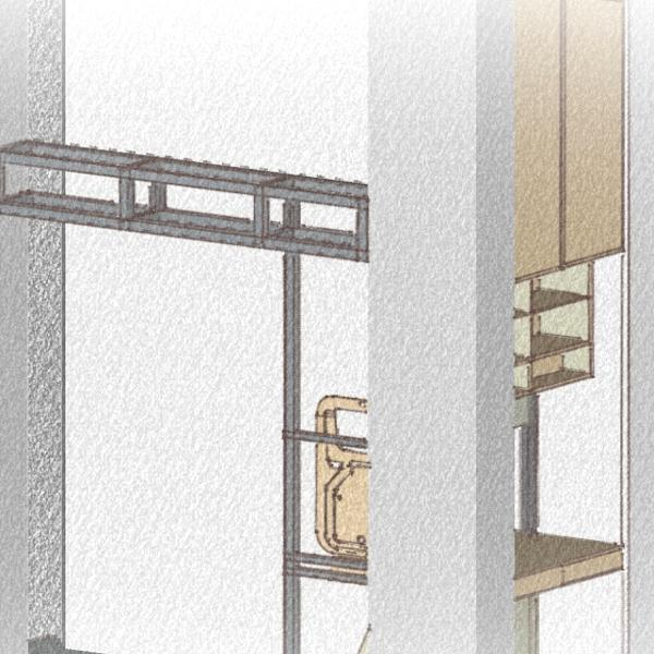Schizzo di progetto veduta laterale