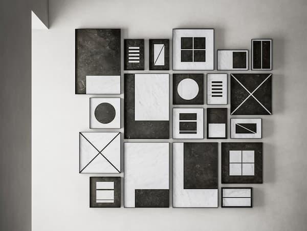 Composizione di quadri B/N di Salvatori