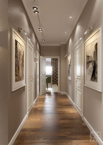 Disposizione quadri in corridoio - Credits Pinterest