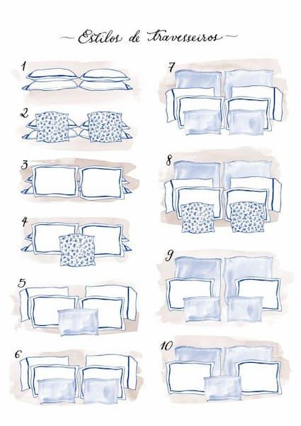 Schemi di disposizione cuscini - Credits: Pinterest