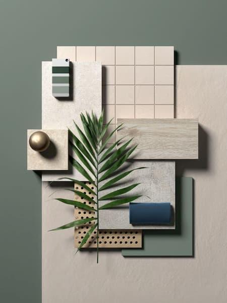 Materiali per uno stile japandi - Credits: Pinterest