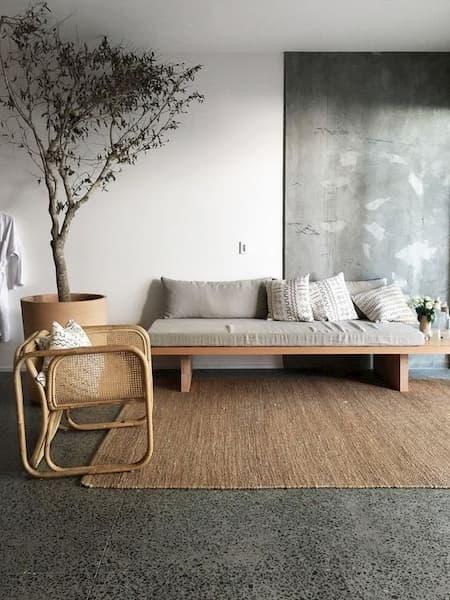 Esempio di interni in stile japandi - Credits: Pinterest