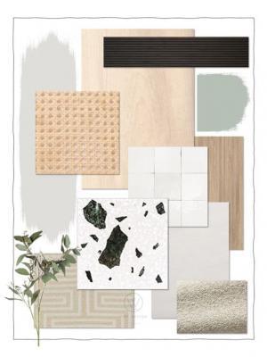 I materiali sono quelli naturali e i colori misti tra i neutri scandi e caldi giappo