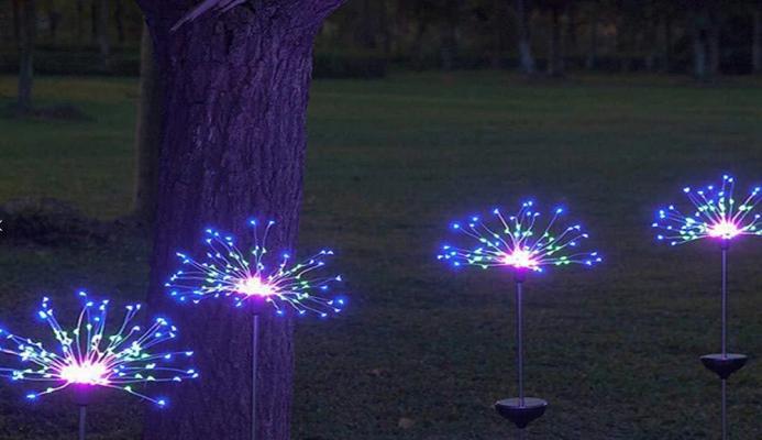 Lightinthebox, luminarie natalizie nel vialetto del giardino, 18 € circa